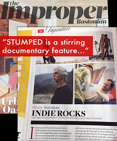 """STUMPED featured in """"The Improper Bostonian"""""""