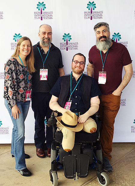 Palm Springs International Film Festival: Robin Berghaus, Steve Delfino, Will Lautzenheiser and Angel Gonzalez. Photo by Lauren Tutzauer