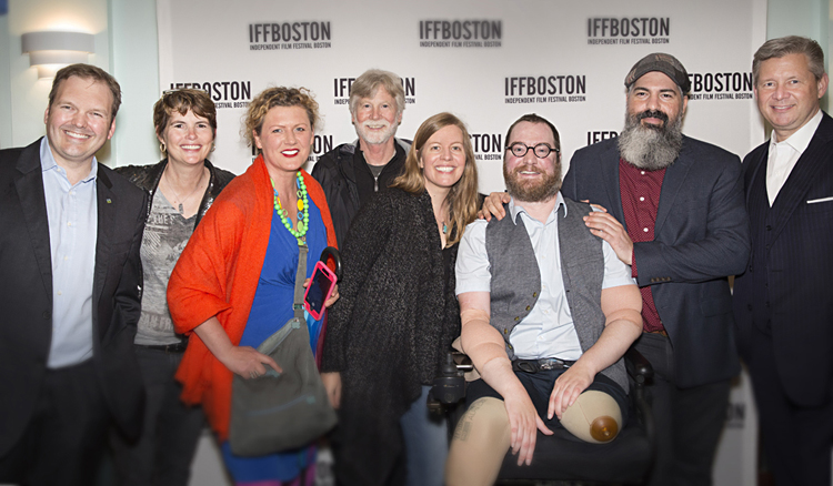 STUMPED team on Opening Night at Independent Film Festival Boston: Dr. Simon Talbot, Lynn Dowling, Asia Kepka, Sam Kauffmann, Robin Berghaus, Will Lautzenheiser, Angel Gonzalez, Dr. Matthew Carty Photo by Adrianne Mathiowetz