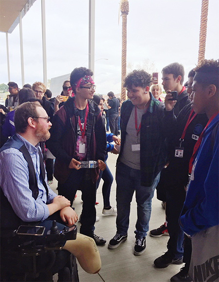 Palm Springs International Film Festival: Will Lautzenheiser speaks with high school students during Student Screening Day